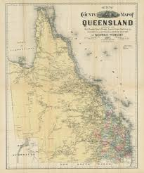 Map Of Queensland Celebrating Rail John Oxley Library
