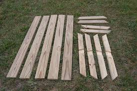 picnic table with separate benches weekend diy picnic table project diydiva