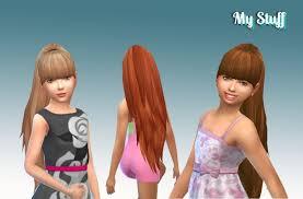 sims 4 kids hair ariana ponytail for girls at my stuff via sims 4 updates sims 4