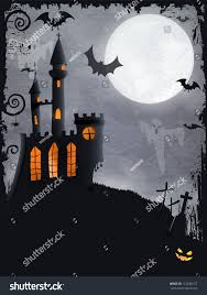 halloween background ghosts halloween background haunted castle bats ghosts stock vector