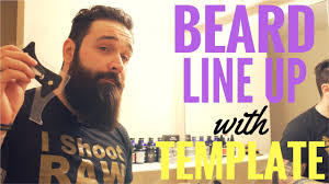 easy beard line up tutorial beard template guide review youtube