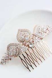 rose gold bridal hair comb rose gold wedding headpiece crystal