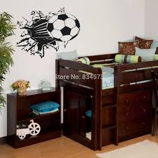 sticker custom picture more detailed picture about soccer ball soccer ball football silhouette wall art sticker wall decal home diy decoration decor wall mural removable