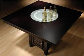 Lazy Susan Dining Room Table The Most Square Counter Height Table With Lazy Susan Chairs Style