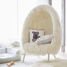 lounge seating for bedrooms ivory furlicious faux fur cave chair pbteen