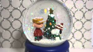 peanuts musical snow glob hallmark snoopy and charlie brown youtube