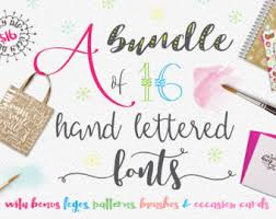 font bundle 65 script fonts including hand lettered fonts