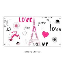 Pink Glass Desk Lumisource Love In Paris Glass Desk Black And Pink Ofd Tm Pgparis