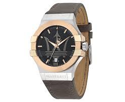 rose gold maserati maserati men u0027s 40mm leather potenza watch rose gold black brown