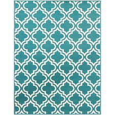 Teal Area Rug Mainstays Fret Area Rug Available In Colors And Sizes