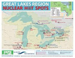 canadian map with great lakes map shows nuclear power facilities in the great lakes region