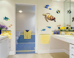 bathroom decor for kids with white wall ideas home bathroom awesome kids bathroom with white floating vanity sink
