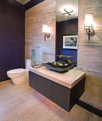 Powder Room Flooring Free Standing Soaking Tub Designer Powder Rooms Wood Accent Wall