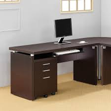 Office Desk With Keyboard Tray Computer Desk With Keyboard Tray In Cappuccino Free Shipping