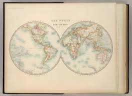 Blank Map Of Eastern Hemisphere by World In Hemispheres David Rumsey Historical Map Collection