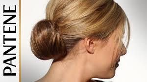 bun hairstyles for long hair how to do a low fan bun youtube