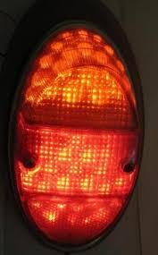 vw led tail lights 12 volt led tail light upgrade assembled kit 1962 67 vw beetle pair