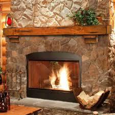 60 u0027 u0027 shenandoah distressed medium oak fireplace shelf by pearl