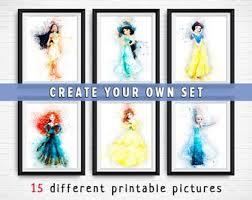 download tutorial kiss the rain disney watercolor etsy