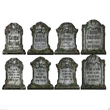 4 halloween haunted house party decoration graveyard tombstone