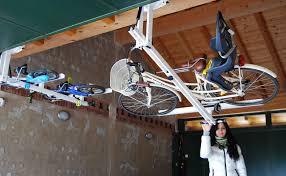 ceiling overhead bike rack for city bike flat bike lift