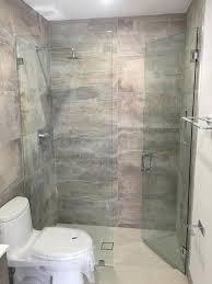 mkl cooper city miami lakes frameless shower door install vanity