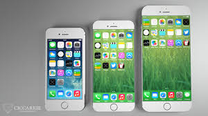home screen icon design iphone 6 concept with larger screens tapered back bezel less design