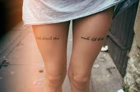simple but tattoo on leg for tattoomagz