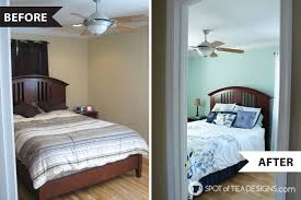 Bedroom Before And After Makeover - calming master bedroom mini makeover spot of tea designs