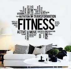 sport wall vinyl decals wallstickers4you vinyl wall decal fitness word cloud healthy lifestyle gym motivation stickers ig3825