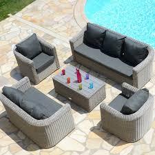canap salon salon de jardin canap d angle et table basse aluminium pour salon de