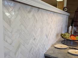 Herringbone Kitchen Backsplash Architectural Ceramics 1x4 Calacatta Gold Polished Herringbone
