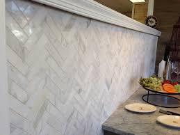 Kitchen Tile Showroom Architectural Ceramics 1x4 Calacatta Gold Polished Herringbone