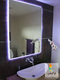 simple but attractive bathroom led lighting ideas for the sink