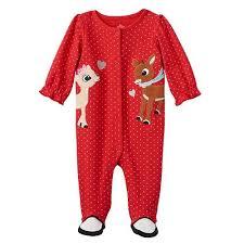 rudolph red nosed reindeer baby clarice u0026 rudolph sleep