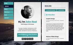 Visual Resume Examples Web Resume Examples Online Cv Homepage How To Create A Killer