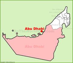 uae map abu dhabi location on the uae united arab emirates map