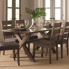 Coaster  Alston Rustic Knotty Nutmeg Finish Trestle Dining Table - Trestle kitchen table