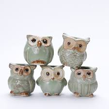 10pcs set porcelain animal flower pot series mini pots ornaments