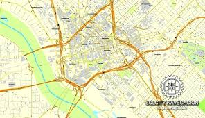 printable road maps maps road map of dallas texas us printable vector street city plan