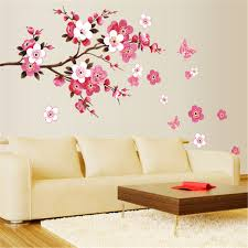 Home Decor Ebay large sakura flower removable wall sticker paper mural art decal