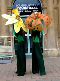 stilt costumes halloween stilt flower rangers flambecircus