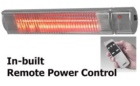 Patio Heater Lights by 2200w Infra Red Heater With Remote Power Control Wall Mounted