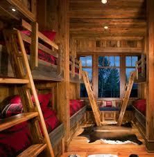 cabin bunk bed ideas kids rustic with sleeps six sleeps six bunk room