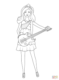 barbie pop star keira coloring free printable coloring pages