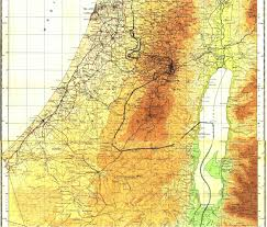 Map Of Israel And Palestine Detailed Map Of Central Palestine Israel 1946 Used In