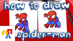 draw cartoon spider man