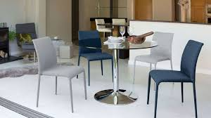 Modern Round Glass Table Chrome Pedestal  Seater Table - Round glass kitchen table sets