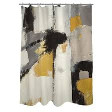 Grey And Yellow Shower Curtains Yellow Shower Curtains For Less Overstock Vibrant Fabric