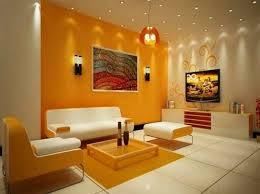 wall color combinations orange wall white furniture http color